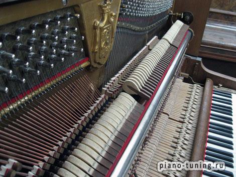 Замена колков в пианино и роялях в Москве.